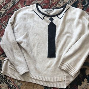 Wildfox cropped tie sweater